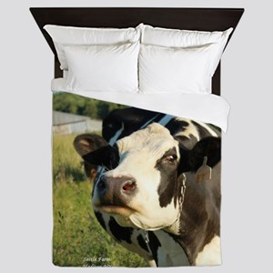 curious cow, 2 Queen Duvet