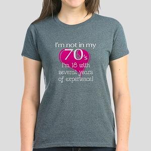 Not In My 70's Women's Dark T-Shirt