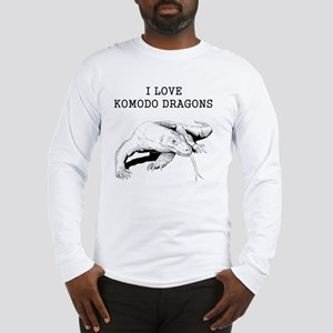 I Love Komodo Dragons Long Sleeve T-Shirt