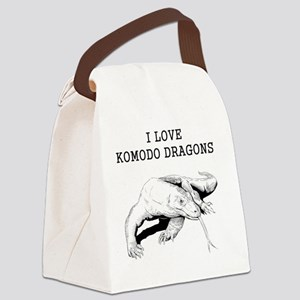 I Love Komodo Dragons Canvas Lunch Bag