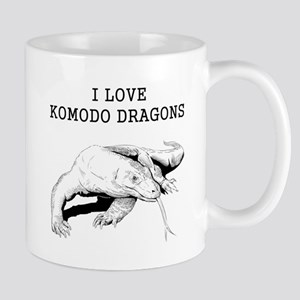 I Love Komodo Dragons Mugs