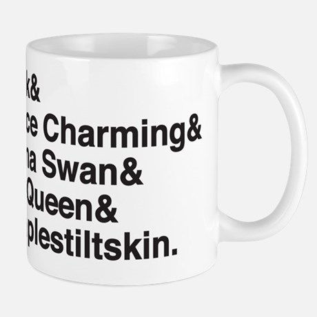 ONCE Upon a time Character Names Mug