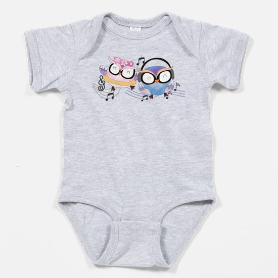 Singing Owls Baby Bodysuit