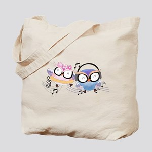 Singing Owls Tote Bag
