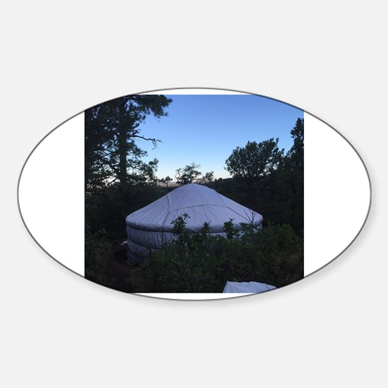 Unique Yurt Sticker (Oval)