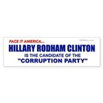 Corruption Party Bumper Sticker