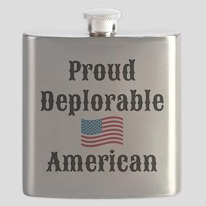 Deplorable American Flask