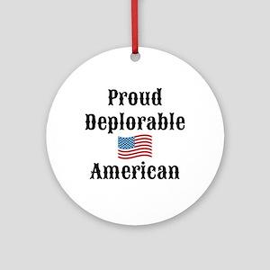 Deplorable American Round Ornament