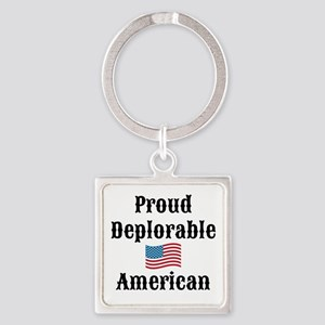 Deplorable American Square Keychain