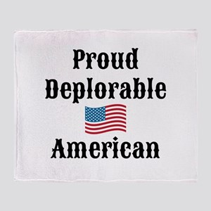 Deplorable American Throw Blanket