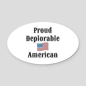 Deplorable American Oval Car Magnet