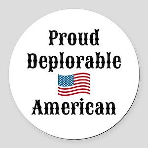 Deplorable American Round Car Magnet