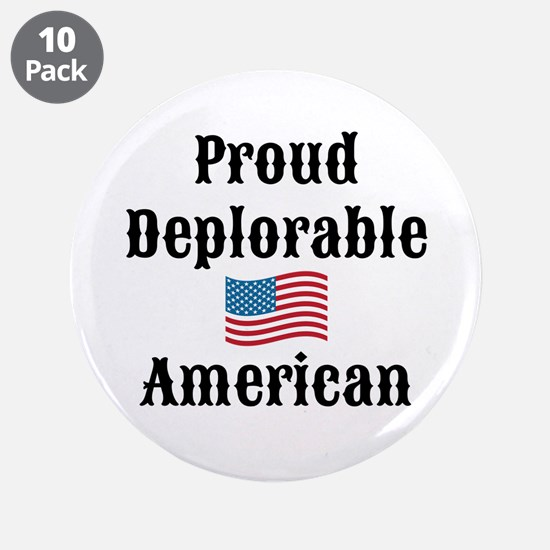 "Deplorable American 3.5"" Button (10 pack)"
