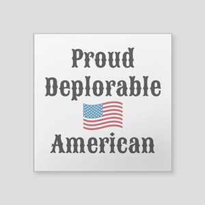 """Deplorable American Square Sticker 3"""" x 3"""""""