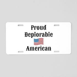 Deplorable American Aluminum License Plate