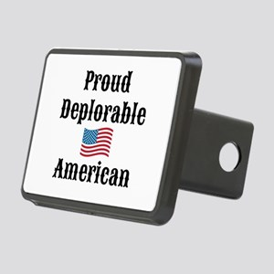 Deplorable American Rectangular Hitch Cover