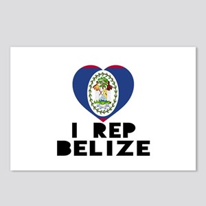 I Rep Belize Country Postcards (Package of 8)