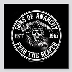 "SOA Icons Full Bleed Square Car Magnet 3"" x 3"""