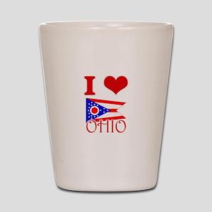 I Love Ohio Shot Glass