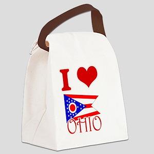 I Love Ohio Canvas Lunch Bag