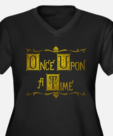 Once Upon a Women's Plus Size V-Neck Dark T-Shirt