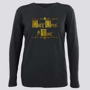 Once Upon a Time Book Title Plus Size Long Sleeve
