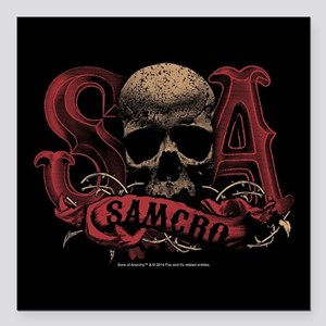"SOA DNA Square Car Magnet 3"" x 3"""