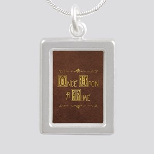 Once Upon a Time Silver Portrait Necklace