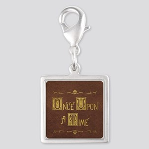 Once Upon a Time Silver Square Charm