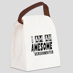 I Am Screenwriter Canvas Lunch Bag