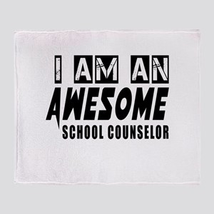 I Am school counselor Throw Blanket