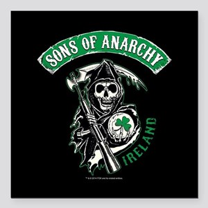 "SOA Ireland Square Car Magnet 3"" x 3"""