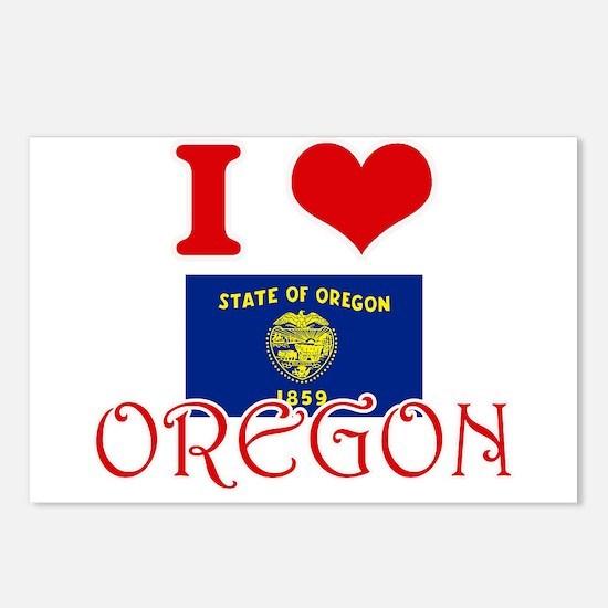 I Love Oregon Postcards (Package of 8)