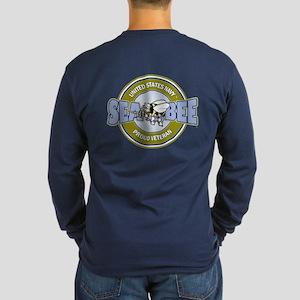 2-Sided - Navy Seabee Long Sleeve T-Shirt