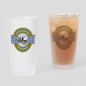 Navy SeaBee Drinking Glass