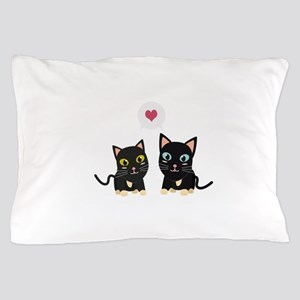 Cats in Love Pillow Case