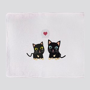 Cats in Love Throw Blanket