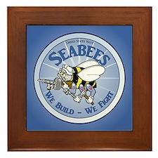 Navy SeaBee Framed Tile