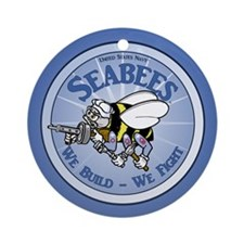 Navy SeaBee Round Ornament