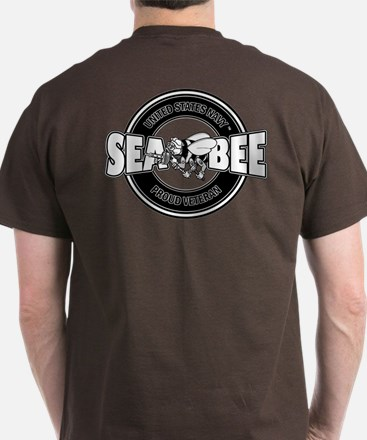 2-Sided - Navy Seabee T-Shirt