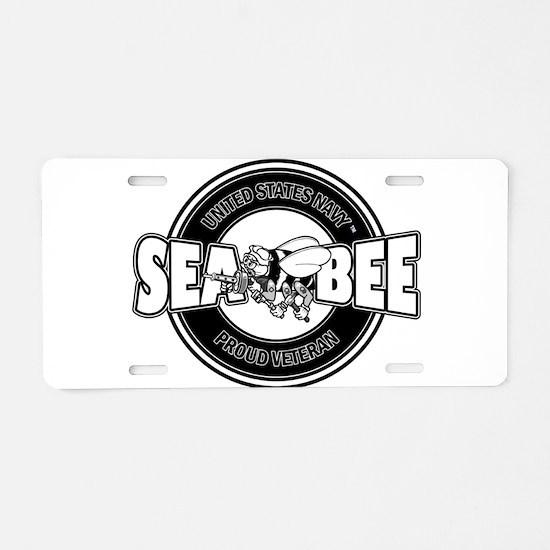 Navy SeaBee Aluminum License Plate