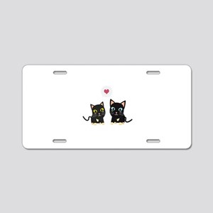 Cats in Love Aluminum License Plate