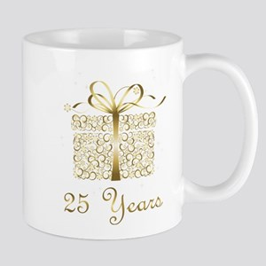25 Years Anniversary or Birthday Mugs