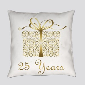 25 Years Anniversary or Birthday Everyday Pillow