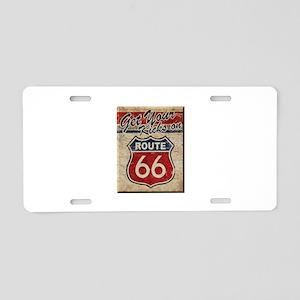 Route 66 Kicks Aluminum License Plate