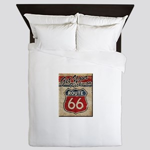 Route 66 Kicks Queen Duvet