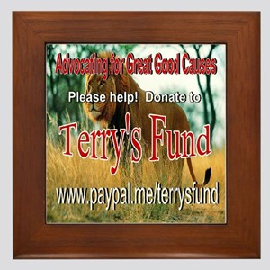 Terry's Fund Support the Arts Framed Tile
