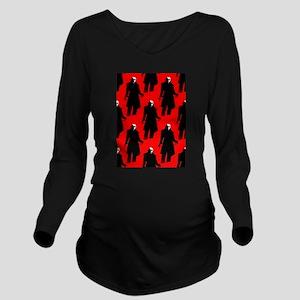 red nosferatu Long Sleeve Maternity T-Shirt