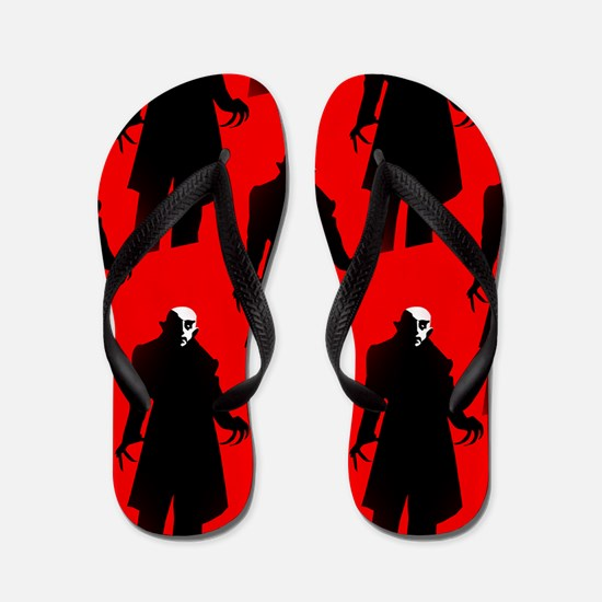 red nosferatu Flip Flops