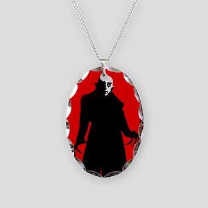 red nosferatu Necklace Oval Charm